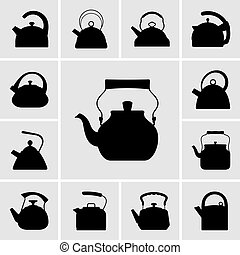 Set of kettle icons