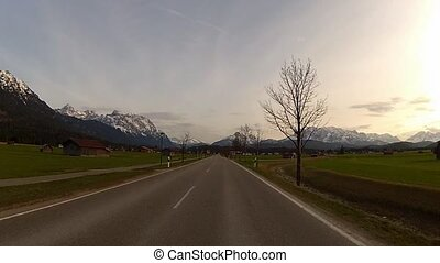 Driving in Alps