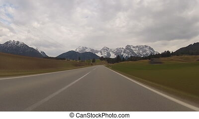 Driving in Bavarian Alps - time-lapse