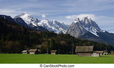Bavarian Alps - time-lapse
