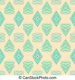 1930s geometric art deco pattern in soft pink & green...