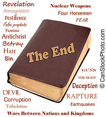 The End - Words that relate to the end of the world around a...