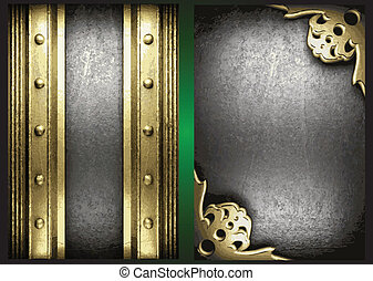 Vector gold and silver background set