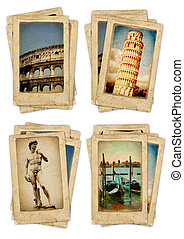 Set of old cards - Memories of Italy. Collection of vintage...