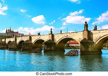 Charles bridge in Prague - Charles Bridge in Prague, Czech...