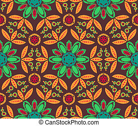 Floral ethnic fall pattern - Floral seamless vector pattern...