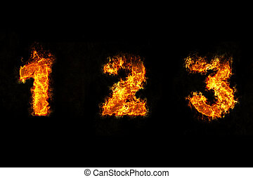 Fire on number 1, 2 and 3