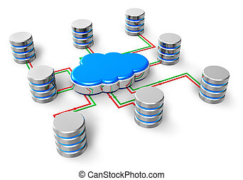 Cloud computing concept - Cloud computing, database network,...