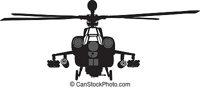 Helicopter - Mi-28 Havoc attack helicopter vector silhouette