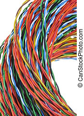 Twisted colored wires