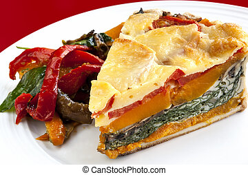 Vegetable Quiche with Salad