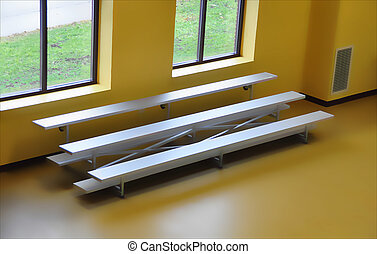bleachers - bench seating in a recreational facility