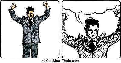 Vector Sketch Businessman
