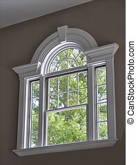 Arched Window - arched window with ornate molding