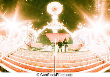 carrousel - this is a carrousel in the night