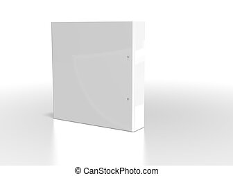 white folder on white background
