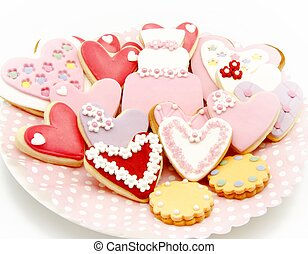 Cookies decorated with wedding