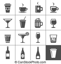 Drinks and beverages icons - Drinks and beverages icon set....