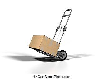 shipping box on white bacground