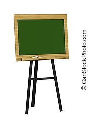 Blank Green Chalkboard Isolated on a White Background