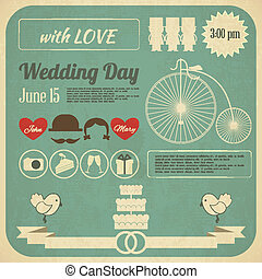 Wedding Invitation Infographics Card - Wedding Invitation...