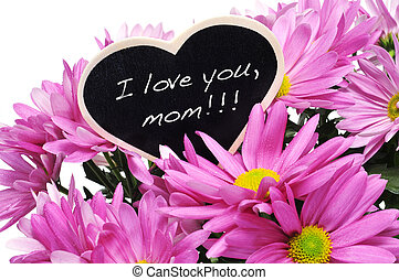 I love you, mom - sentence I love you, mom written with...