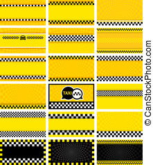 Business card taxi, vector illustration