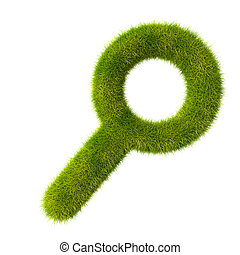 Grass magnifying glass icon