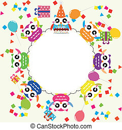 Birthday party card with fun