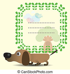 Frame with cute dog