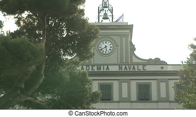 Italian Naval Academy in Livorno - Main entrance of the...