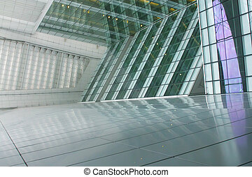 A Futuristic Office Architecture Abstract Day Shot