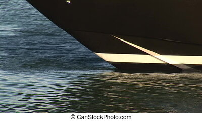 Bow of a luxury boat - Detail of the bow of a luxury boat