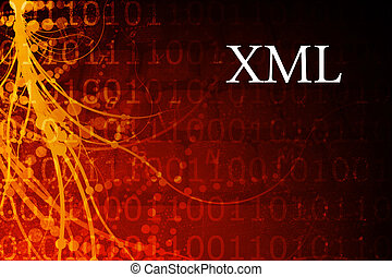 XML Abstract Background in Red and Black