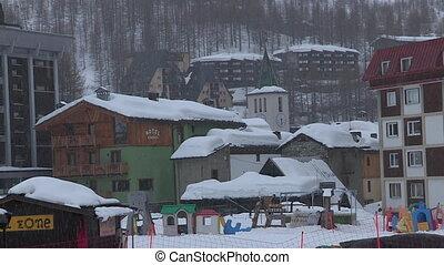 Cortina d'Ampezzo in winter - Cortina d'Ampezzo, Italy, in...
