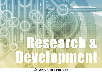 Research and Development Abstract Background in Blue Color