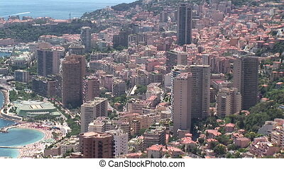 Monaco Montecarlo cityscape, with skyscrapers