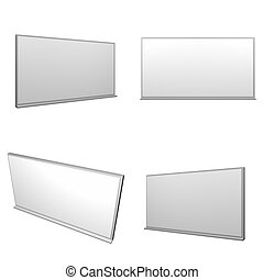 Whiteboard A Clip Art Illustration Office Object
