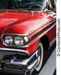 vintage car, collector's car - red vintage collector's car...