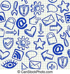 Social media seamless pattern