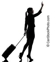empresa / negocio, mujer, Viajar, ambulante, Granizar,...