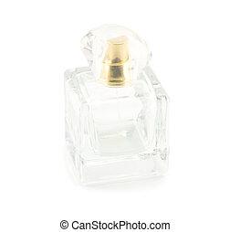 bottle perfume isolated on white background