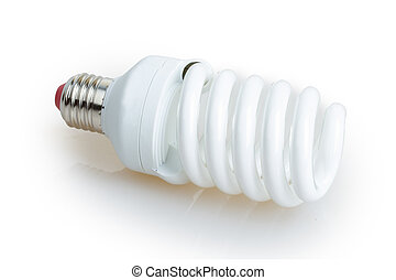 white energy saving bulb