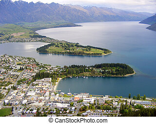 Queenstown - Aerial View of Queenstown