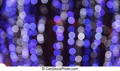 Out of focus spot lights as background