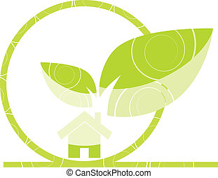 Home green illustration - Home green color in the...