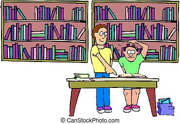 Teacher and children in school