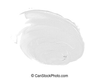 smear paint or cream isolated on white background