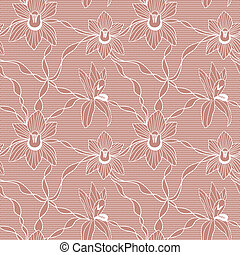 White lace vector fabric seamless pattern - White lace...