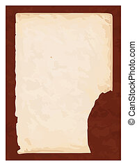 Pt-Old book paper with brown cardboard background in vector